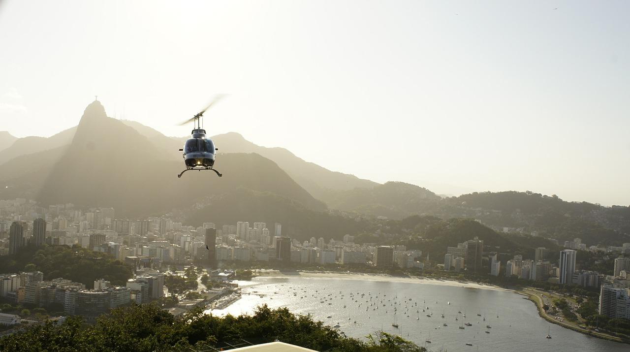 helicopter flight over Rio de Janeiro vacation rental