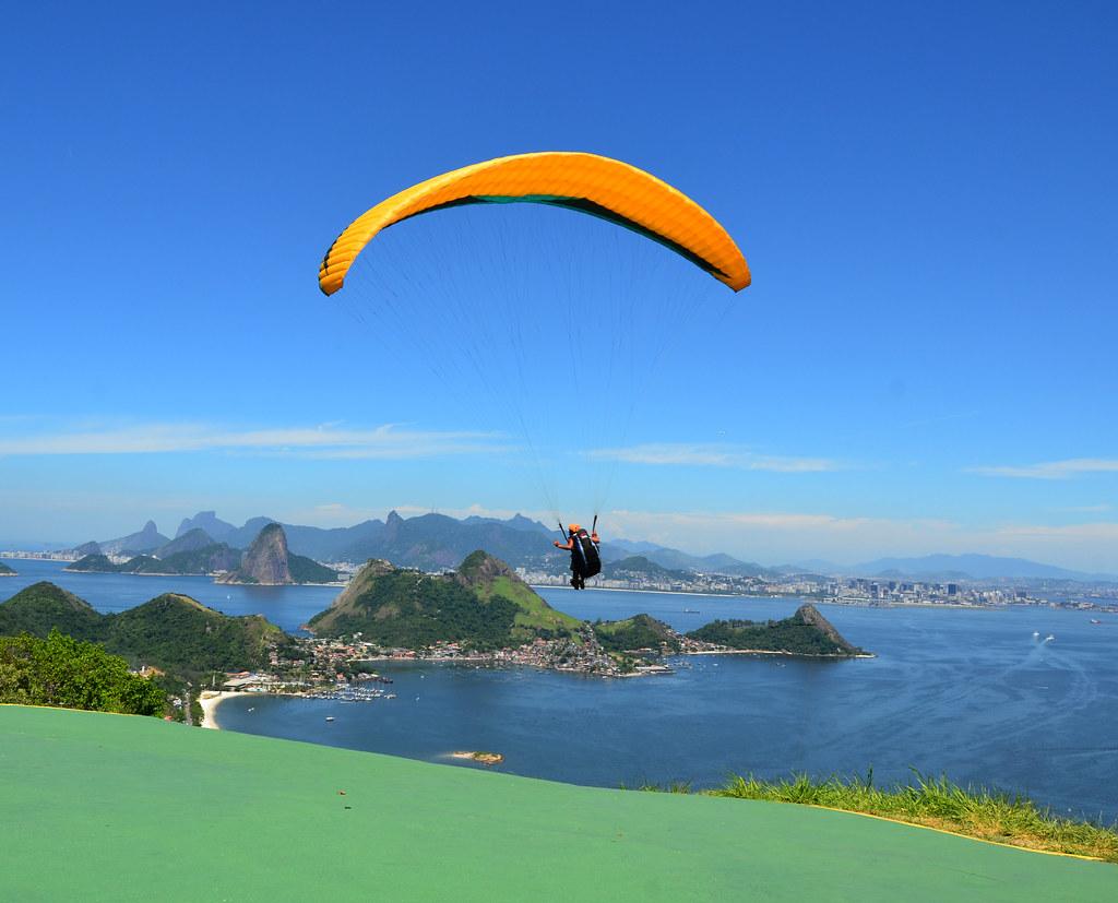 Paragliding over Rio de Janeiro vacation rental