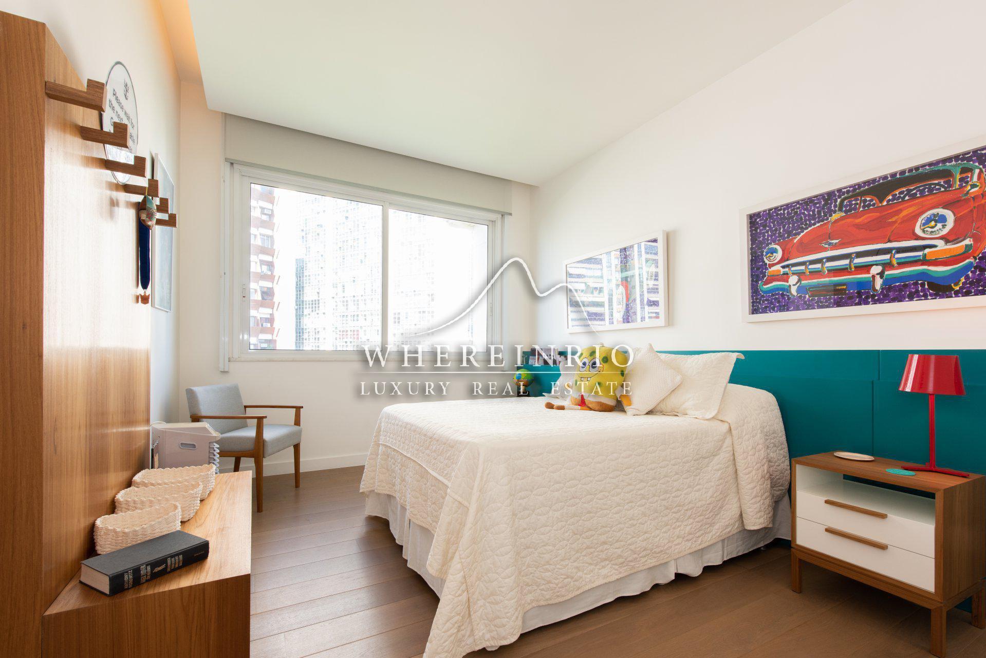 Quarto de um apartamento para locação em Flamengo